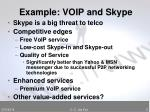 example voip and skype