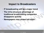 impact to broadcasters