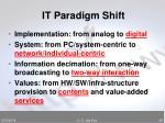 it paradigm shift45