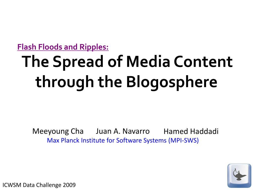 the spread of media content through the blogosphere l.