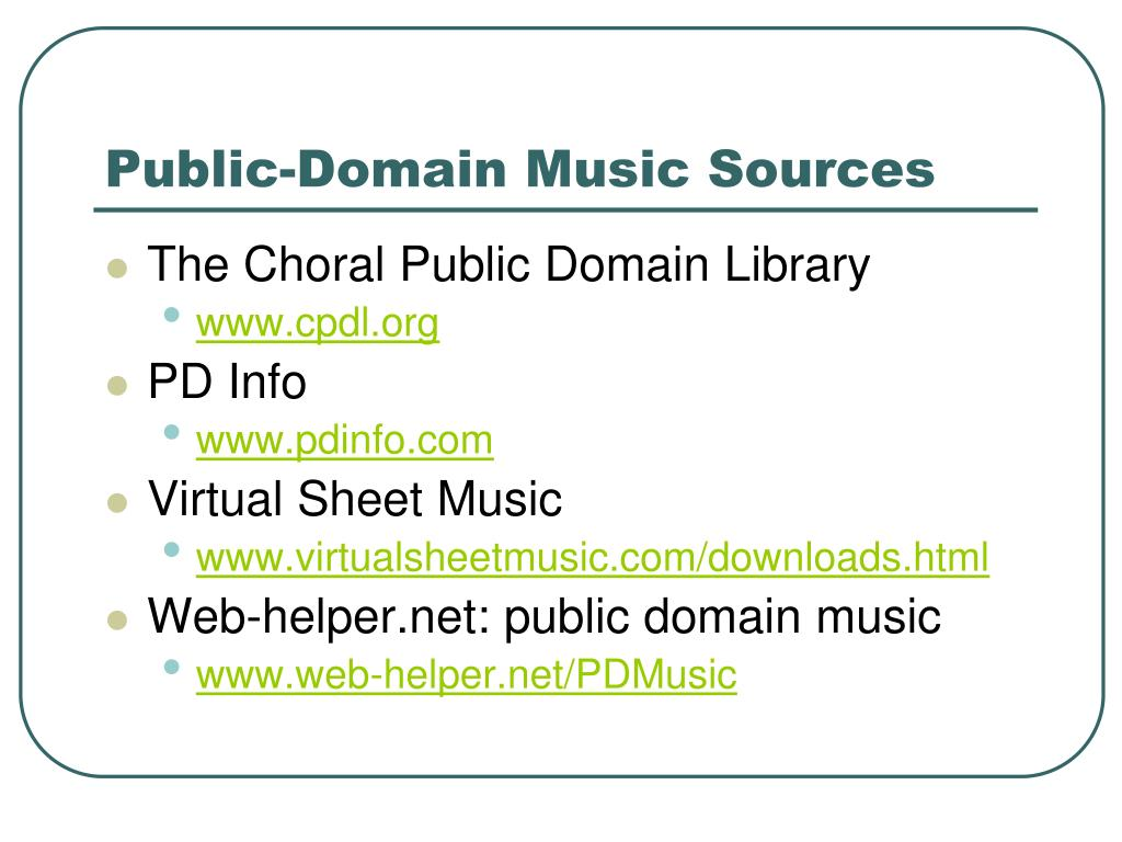 Public-Domain Music Sources