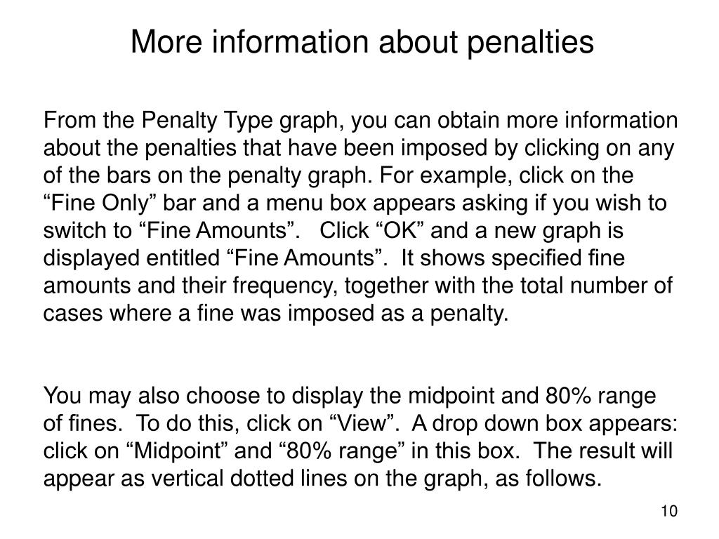 More information about penalties