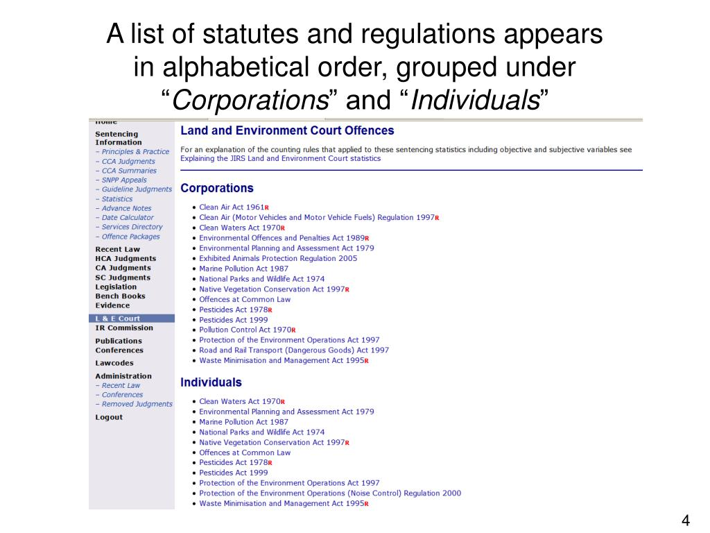 A list of statutes and regulations appears
