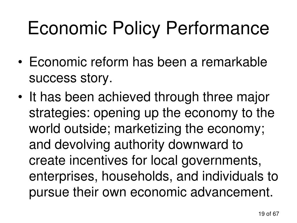 Economic Policy Performance