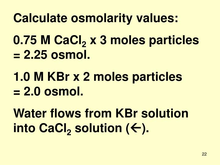 how to find osmolarity of a solution