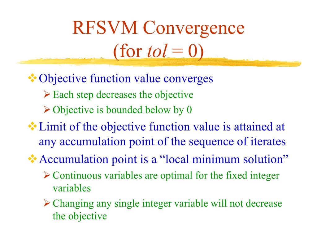 RFSVM Convergence