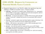 ghg anpr request for comments on potential mobile source controls