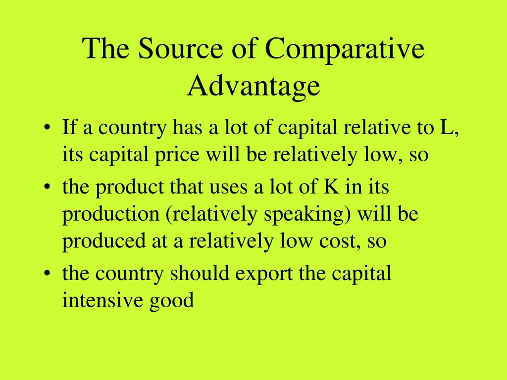 discuss the sources of comparative advantage in national economies Sources of comparative advantage lecture 2: sources of ca • causes of ca in theory • can ca change • can ca be created • policy implications of ca causes.