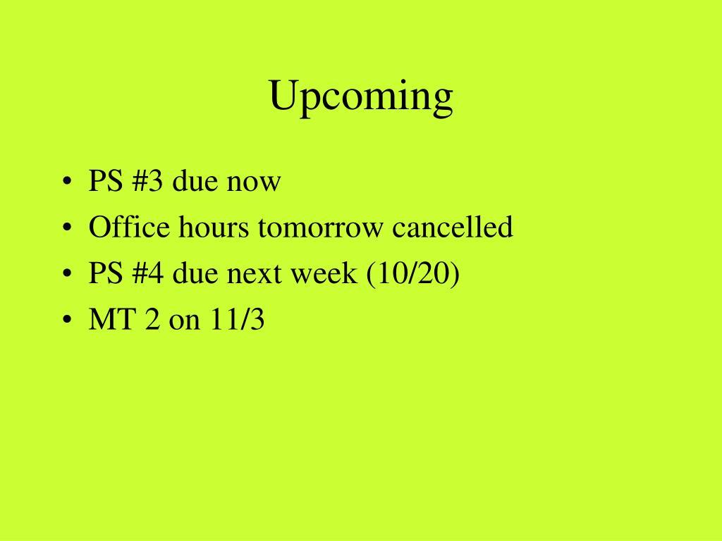 upcoming l.