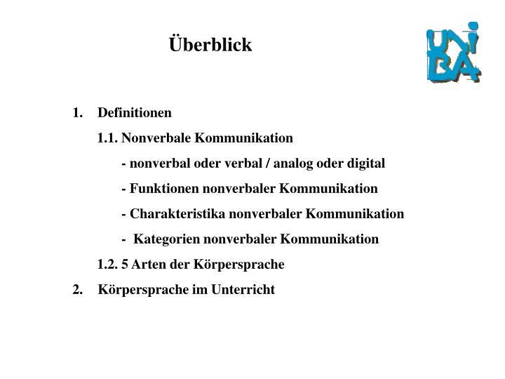 Ppt Nonverbale Kommunikation Von Jens Alex Mirjam Fuchs Und