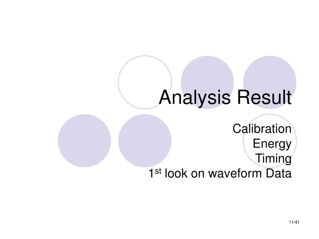 Analysis Result
