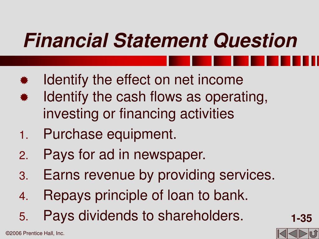 Financial Statement Question