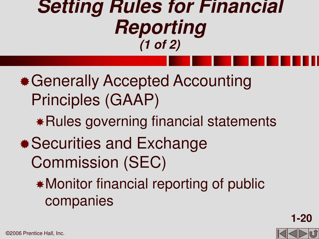 Setting Rules for Financial Reporting