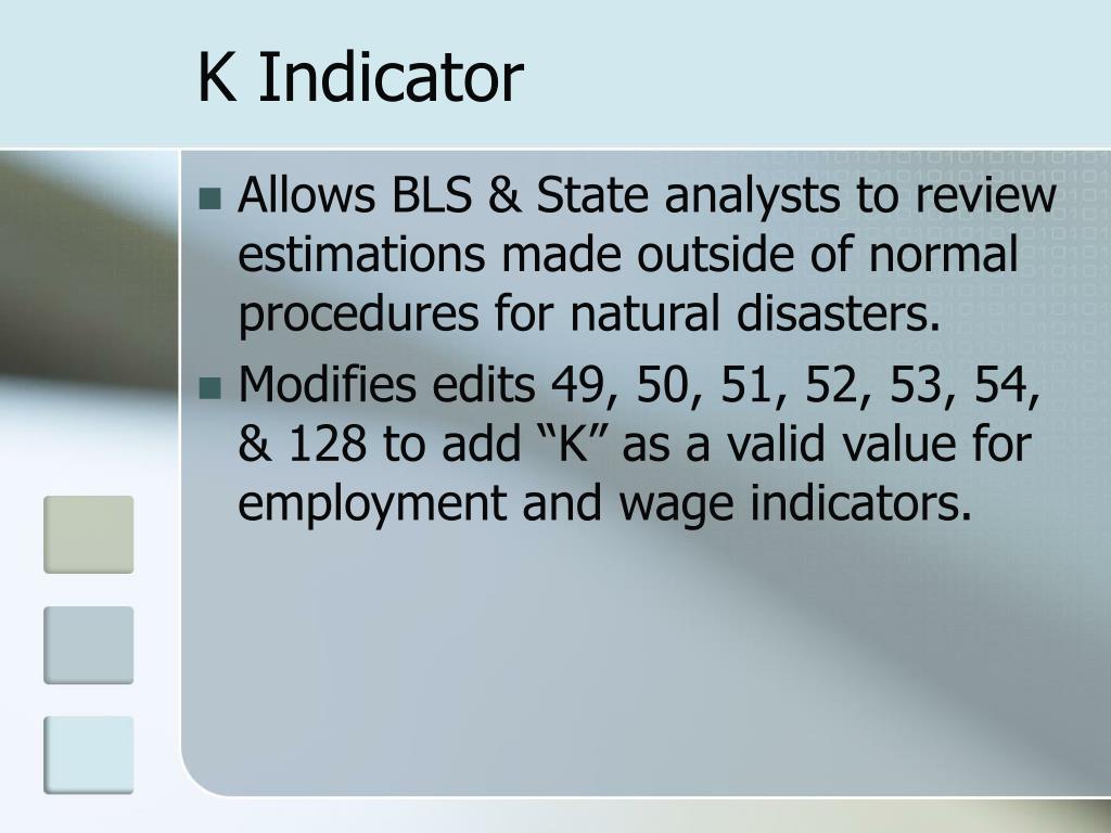 K Indicator
