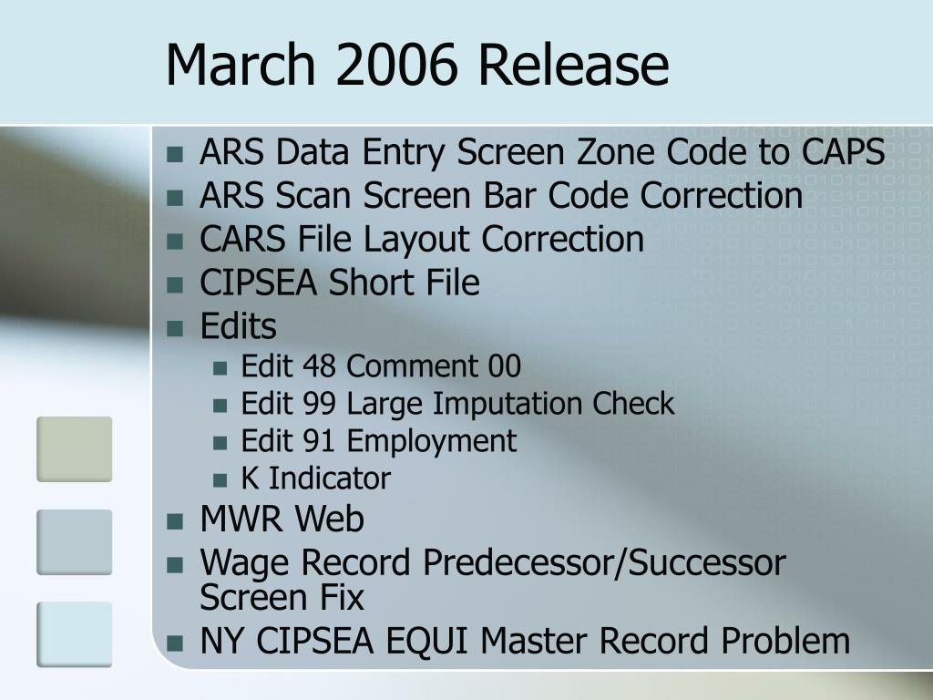March 2006 Release