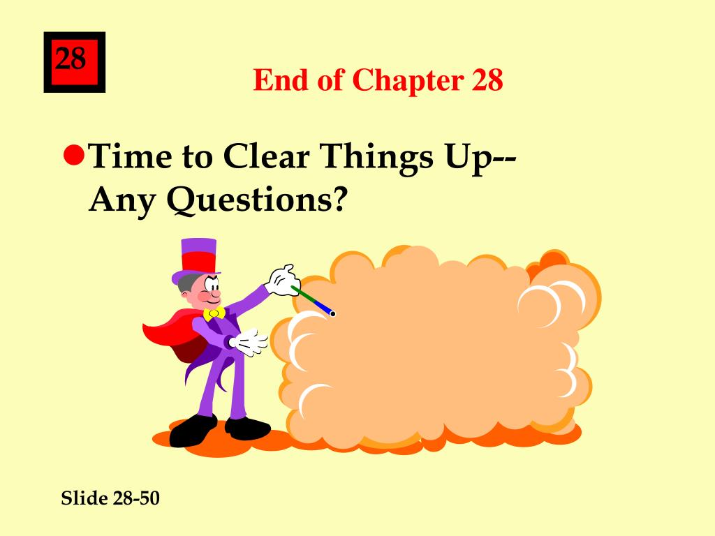 End of Chapter 28