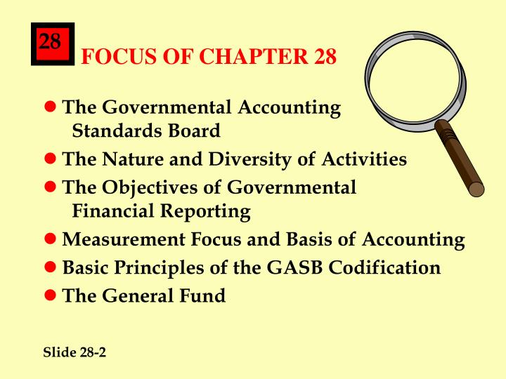 Focus of chapter 28