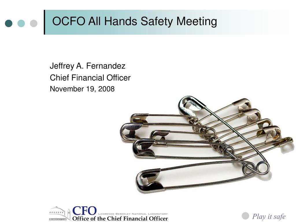 ocfo all hands safety meeting l.