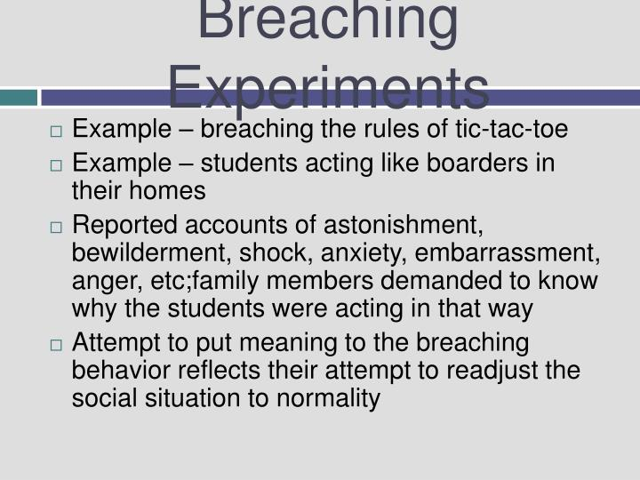 breaching experiment examples
