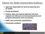cleaner air better communities audience