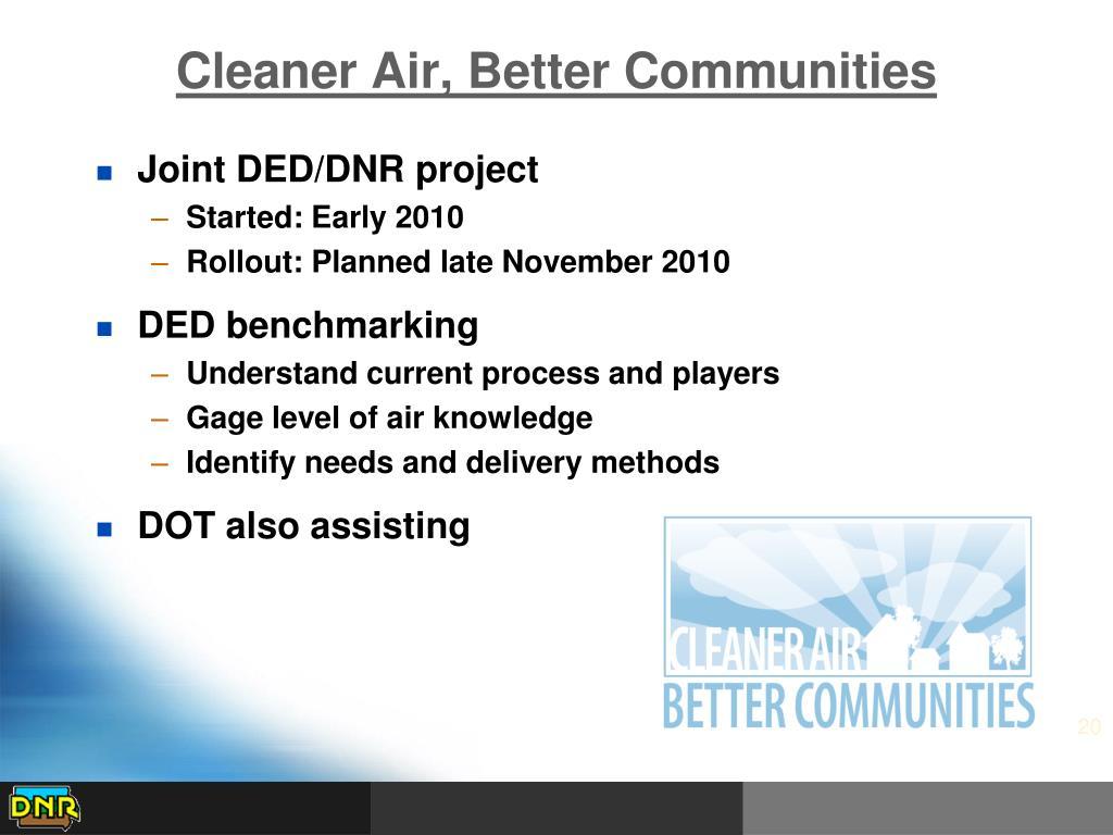 Cleaner Air, Better Communities