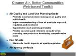 cleaner air better communities web based toolkit
