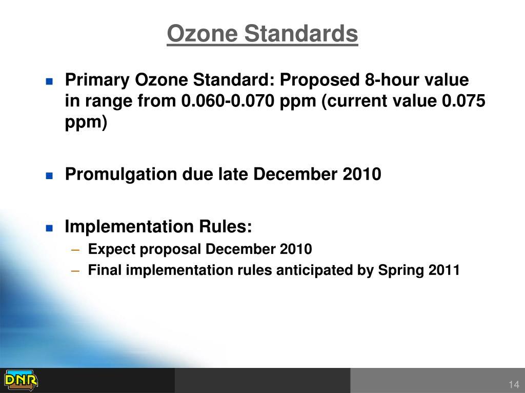 Ozone Standards