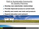 path to sustainable community air quality planning