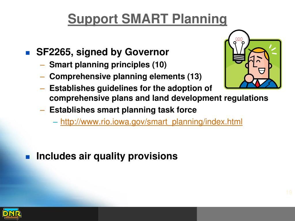 Support SMART Planning
