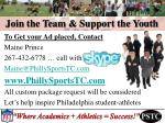 join the team support the youth