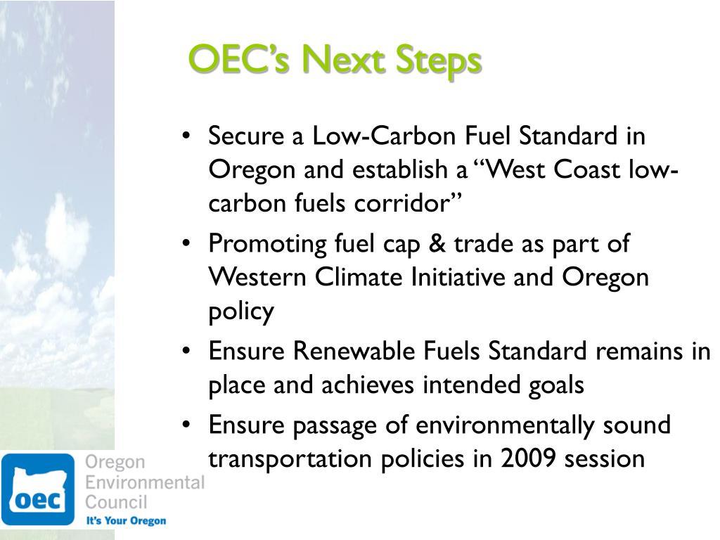 OEC's Next Steps
