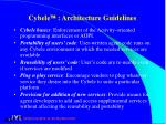 cybele architecture guidelines