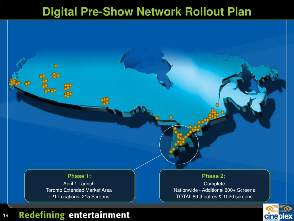 Digital Pre-Show Network Rollout Plan