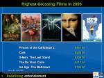 highest grossing films in 2006