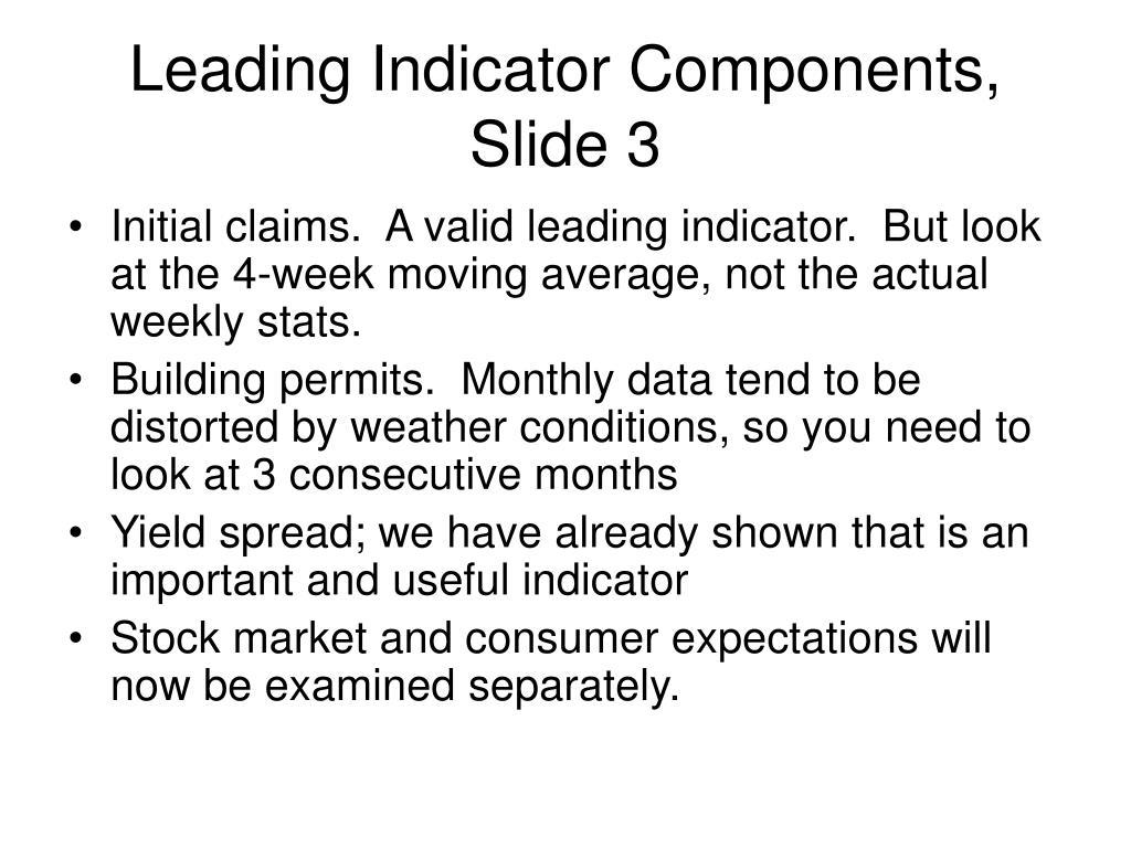 Leading Indicator Components, Slide 3