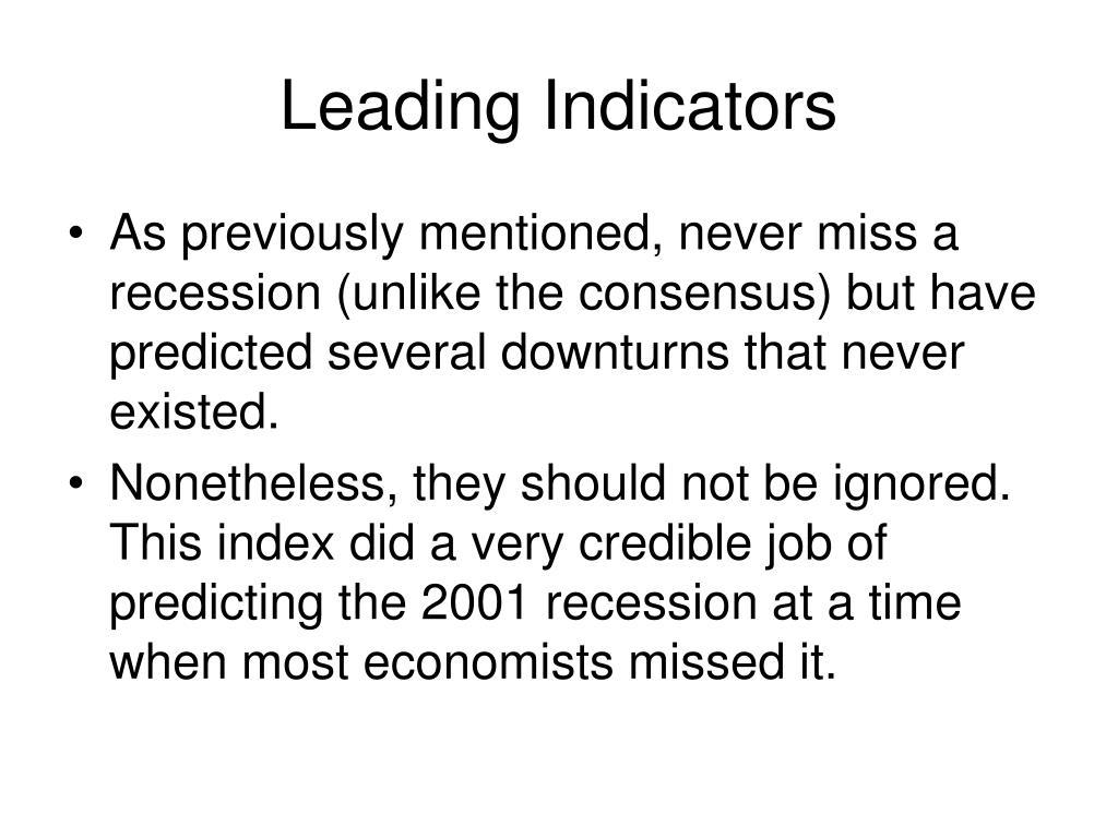 Leading Indicators