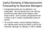 useful elements of macroeconomic forecasting for business managers