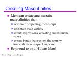 creating masculinities