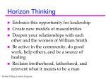 horizon thinking