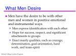 what men desire