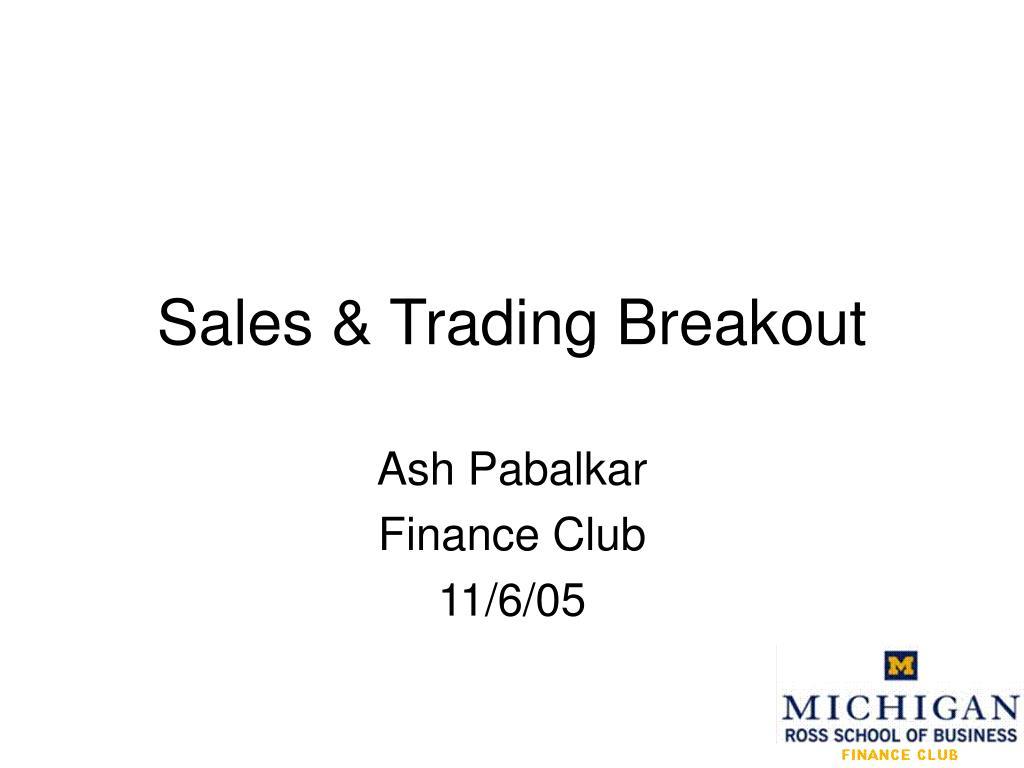sales trading breakout l.