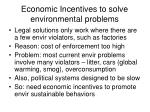 economic incentives to solve environmental problems