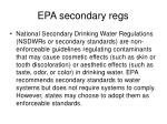 epa secondary regs