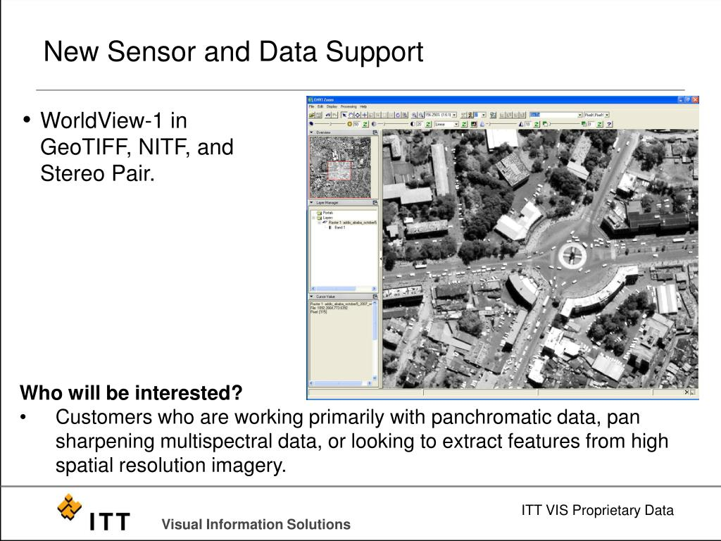 New Sensor and Data Support