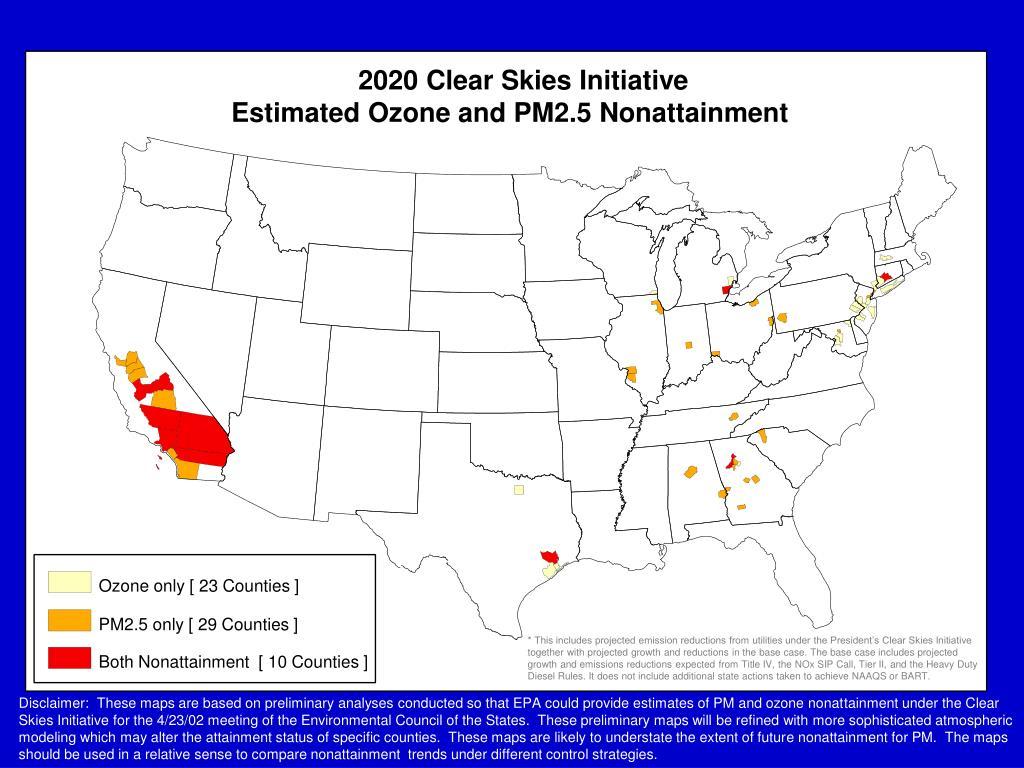 2020 Clear Skies Initiative