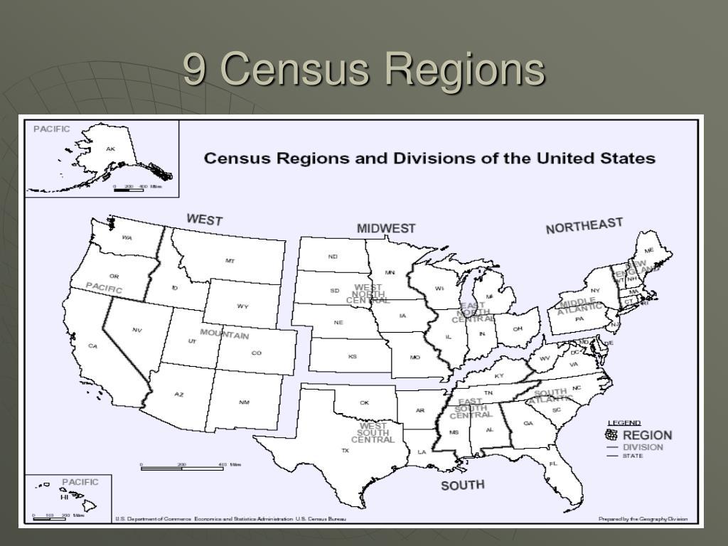 9 Census Regions