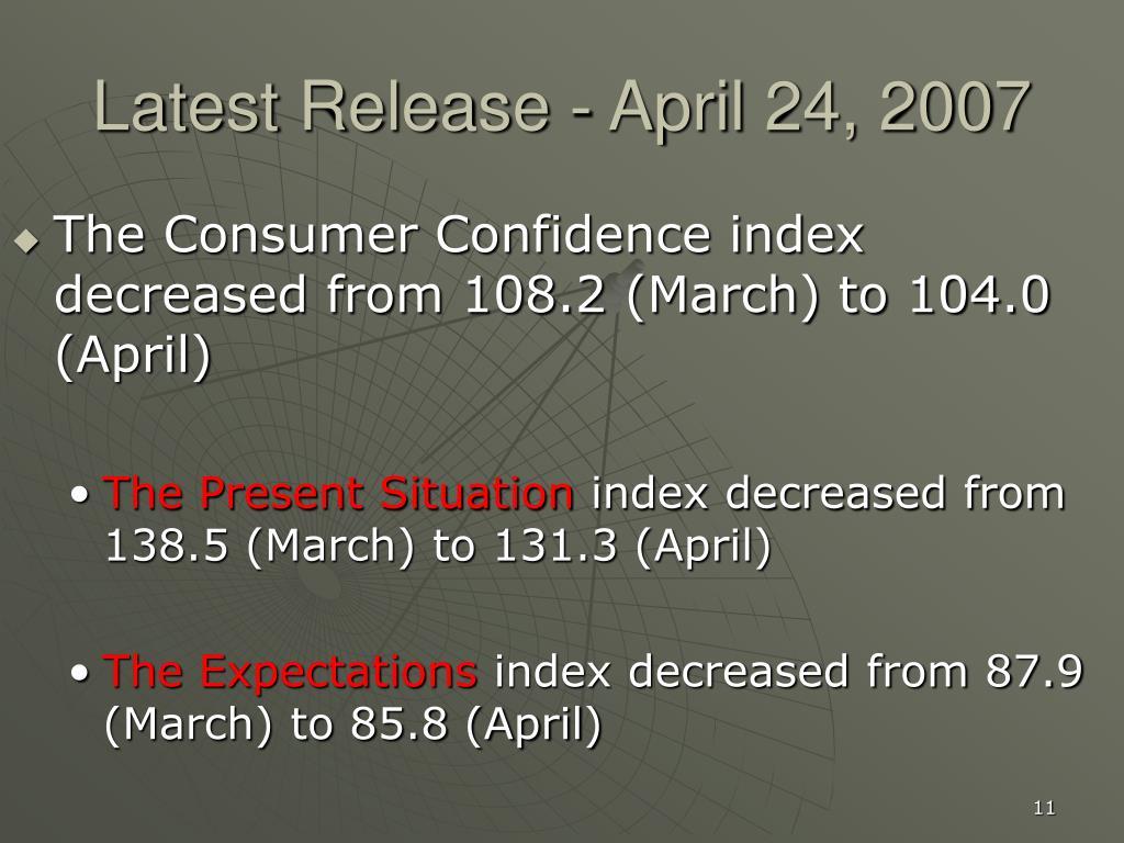 Latest Release - April 24, 2007