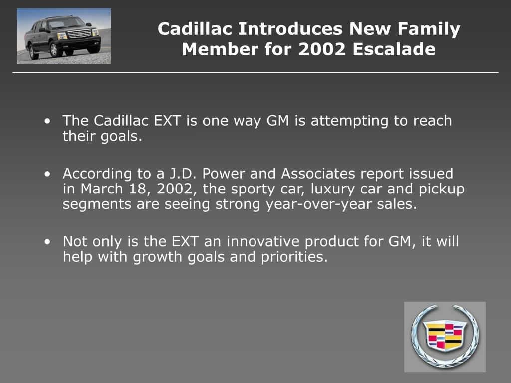 Cadillac Introduces New Family Member for 2002 Escalade