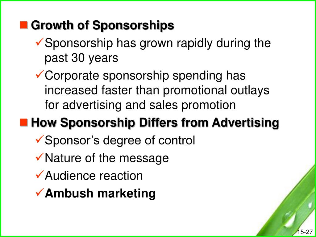 Growth of Sponsorships