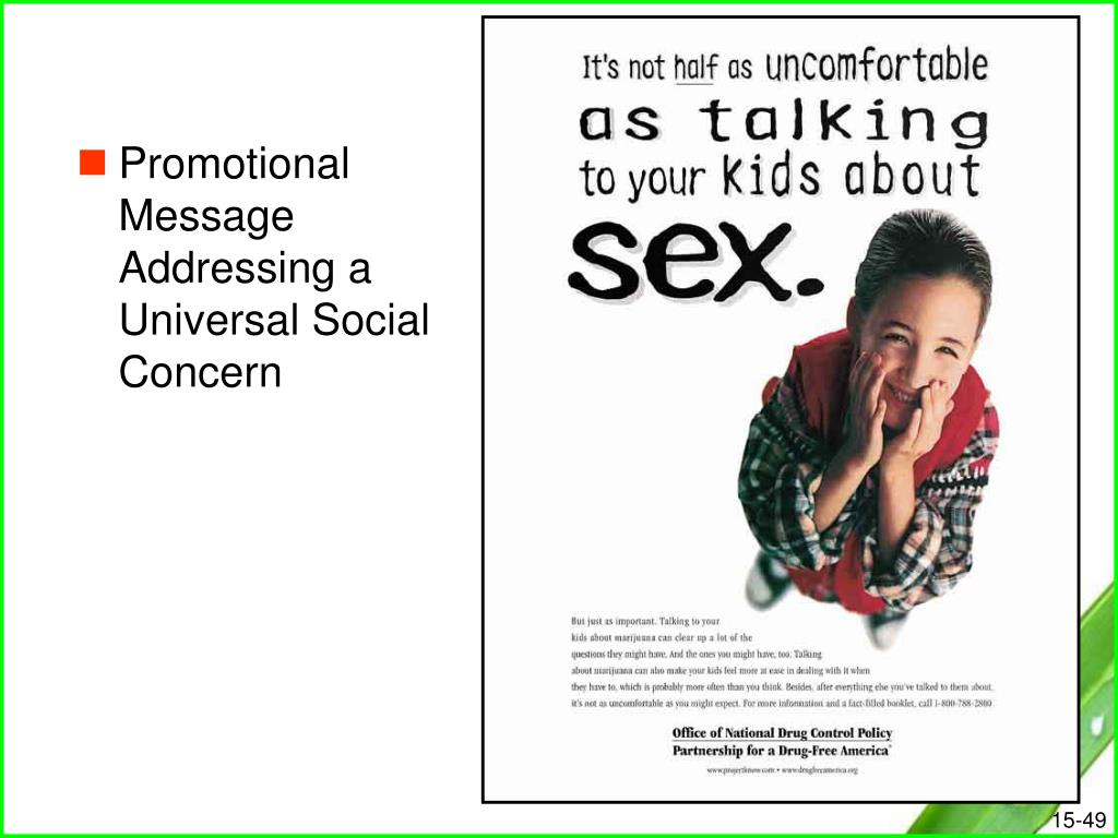 Promotional Message Addressing a Universal Social Concern